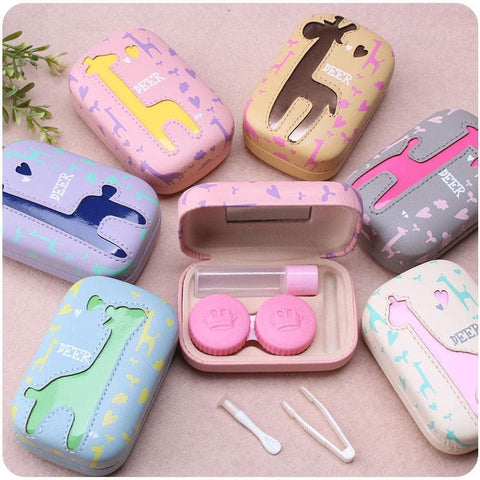 6 colors Cute Giraffe Contact Lenses Case SP153084