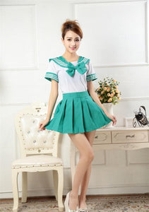 7 Colors Cosplay Costume Sailor Collar School Uniform Set SP179818