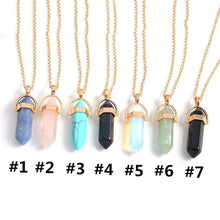 Load image into Gallery viewer, 7 Colors Hexagonal Prism Moon Necklace SP1812619