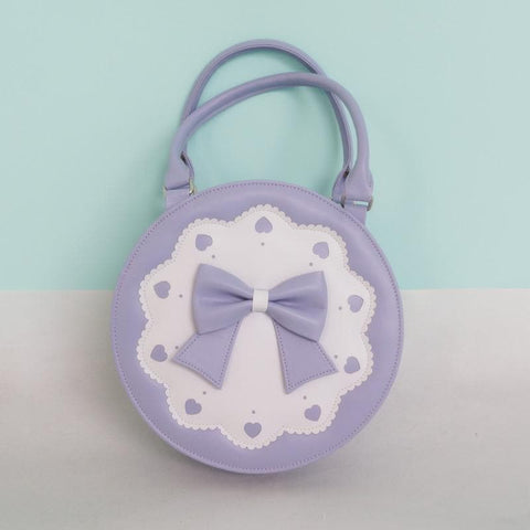 7 Colors Lolita Bowknot Round Cylinder PU Hand Bag SP140345 - SpreePicky  - 3