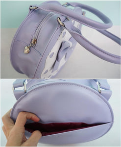 7 Colors Lolita Bowknot Round Cylinder PU Hand Bag SP140345 - SpreePicky  - 4