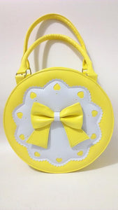 7 Colors Lolita Bowknot Round Cylinder PU Hand Bag SP140345 - SpreePicky  - 7