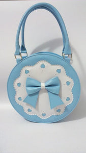 7 Colors Lolita Bowknot Round Cylinder PU Hand Bag SP140345 - SpreePicky  - 8