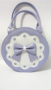 7 Colors Lolita Bowknot Round Cylinder PU Hand Bag SP140345 - SpreePicky  - 9