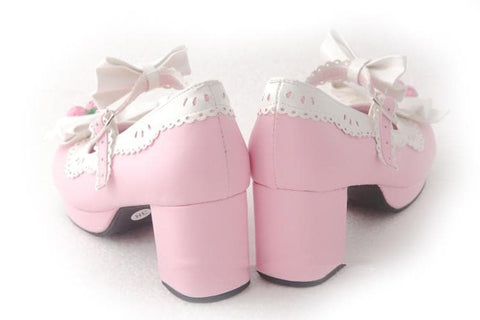 7 Colors Lolita Strawberry Princess  Shoes SP153554 - SpreePicky  - 12
