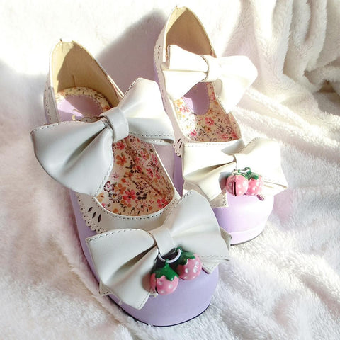 7 Colors Lolita Strawberry Princess  Shoes SP153554 - SpreePicky  - 16