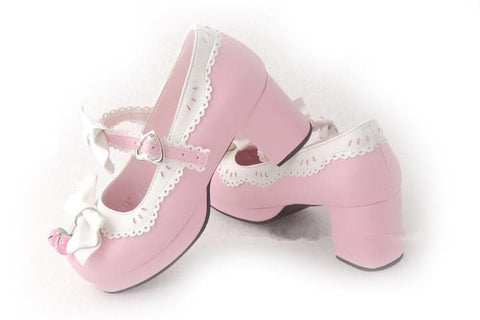 7 Colors Lolita Strawberry Princess  Shoes SP153554 - SpreePicky  - 13