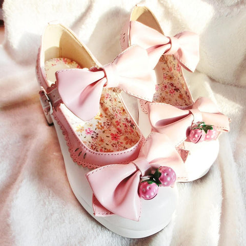 7 Colors Lolita Strawberry Princess  Shoes SP153554 - SpreePicky  - 6