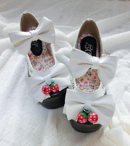 7 Colors Lolita Strawberry Princess  Shoes SP153554 - SpreePicky  - 14