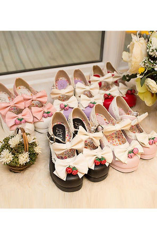 7 Colors Lolita Strawberry Princess  Shoes SP153554 - SpreePicky  - 4