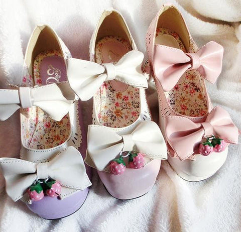 7 Colors Lolita Strawberry Princess  Shoes SP153554 - SpreePicky  - 5