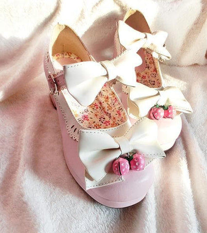 7 Colors Lolita Strawberry Princess  Shoes SP153554 - SpreePicky  - 10