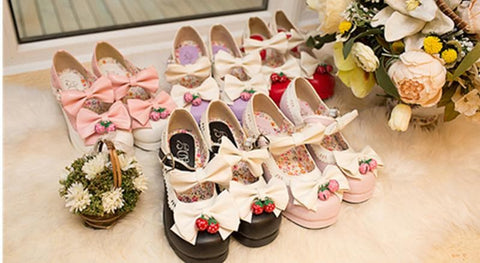 7 Colors Lolita Strawberry Princess  Shoes SP153554 - SpreePicky  - 3