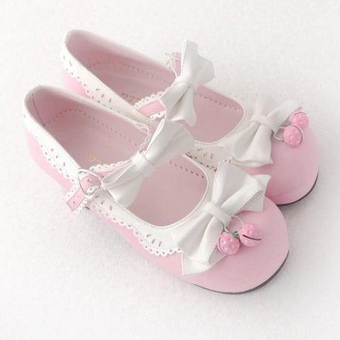 7 Colors Lolita Strawberry Princess  Shoes SP153554 - SpreePicky  - 11