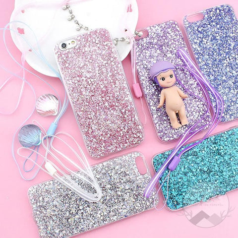 6 Colors Blingbling Paillette Phone Case SP178660