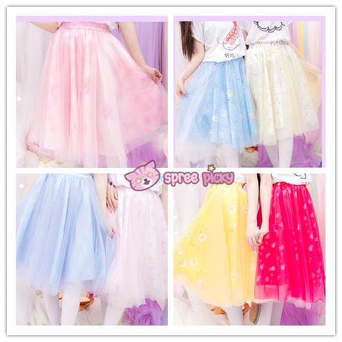 8 Colors Pastel Dreaming Shimmer TUTU Petti Skirt SP152089