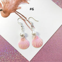 Load image into Gallery viewer, 7 Colors Sweet Pearl Shell Earrings SP1812132