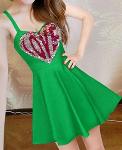 7 Colors Sweet Sparkling LOVE Dress SP1812268