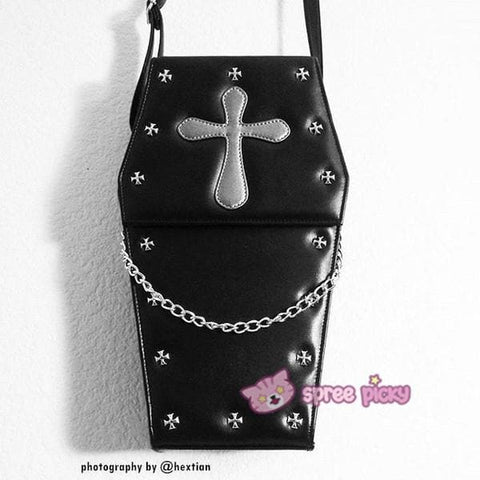 Lolita Gothic Coffin Bag 3 Ways-Crossbody/Hand Bag/Backpack SP140420 - SpreePicky  - 1