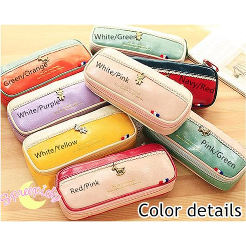 [8 Colors] K-Fashion Big Volume Pencil PU Case Bag SP151629 - SpreePicky  - 2