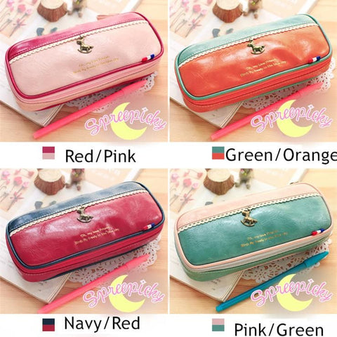 [8 Colors] K-Fashion Big Volume Pencil PU Case Bag SP151629 - SpreePicky  - 4