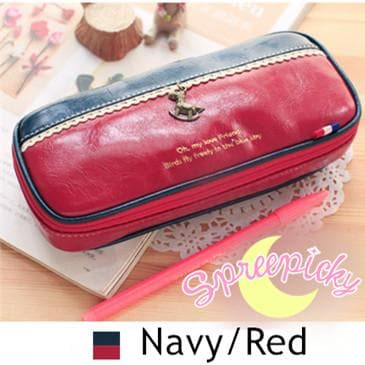 [8 Colors] K-Fashion Big Volume Pencil PU Case Bag SP151629 - SpreePicky  - 11