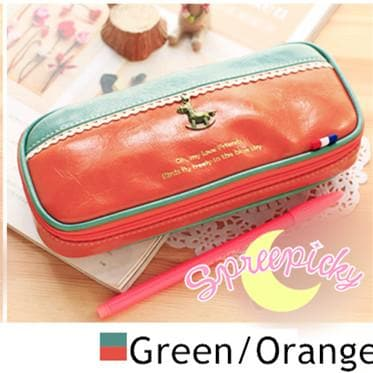 [8 Colors] K-Fashion Big Volume Pencil PU Case Bag SP151629 - SpreePicky  - 12
