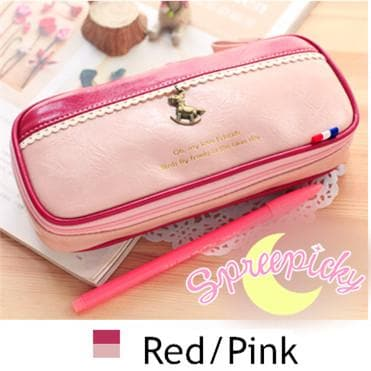 [8 Colors] K-Fashion Big Volume Pencil PU Case Bag SP151629 - SpreePicky  - 5