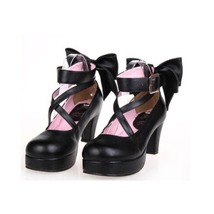 [EU 48-52] 8 Colors Lolita Princess Bow Platform High Heel Shoes SP152166 - SpreePicky  - 2