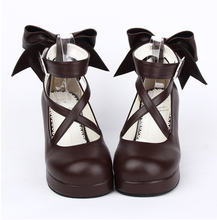 Load image into Gallery viewer, [EU 34-47] 8 Colors Lolita Princess Bow Platform High Heel Shoes SP152166 - SpreePicky  - 4