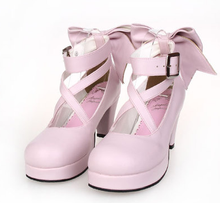 Load image into Gallery viewer, [EU 48-52] 8 Colors Lolita Princess Bow Platform High Heel Shoes SP152166 - SpreePicky  - 5