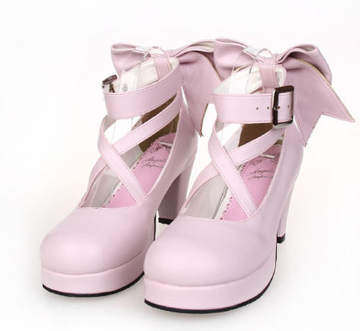 [EU 48-52] 8 Colors Lolita Princess Bow Platform High Heel Shoes SP152166 - SpreePicky  - 5