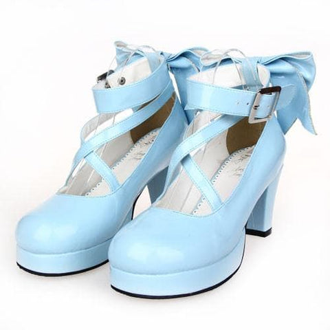 [EU 34-47] 8 Colors Lolita Princess Bow Platform High Heel Shoes SP152166 - SpreePicky  - 6