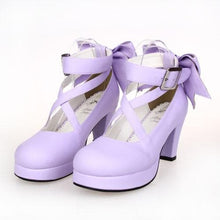 Load image into Gallery viewer, [EU 48-52] 8 Colors Lolita Princess Bow Platform High Heel Shoes SP152166 - SpreePicky  - 7