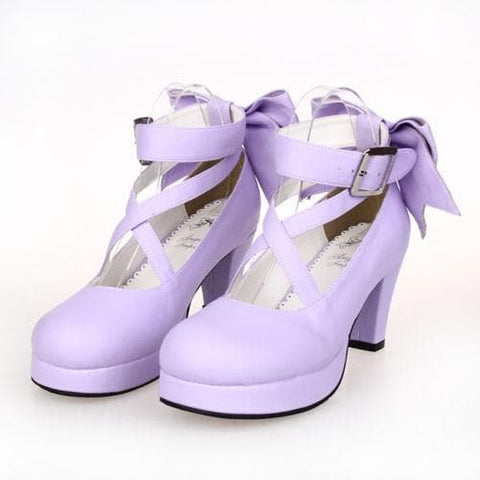 [EU 34-47] 8 Colors Lolita Princess Bow Platform High Heel Shoes SP152166 - SpreePicky  - 7