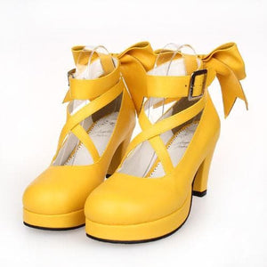 [EU 48-52] 8 Colors Lolita Princess Bow Platform High Heel Shoes SP152166 - SpreePicky  - 9
