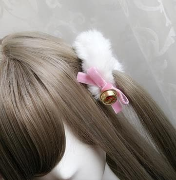 8 Colors Lolita Ring Bowknot Plush Hair Ring SP167035