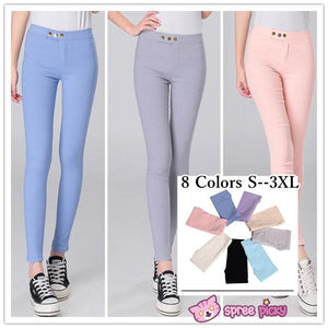 [S--3XL] 8 Colors Slim Bottoming Stretch Pants SP151846 - SpreePicky FreeShipping