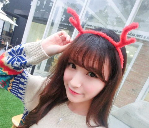 8 Colours Plush Reindeer Ears Hair Band  SP154107 - SpreePicky  - 10