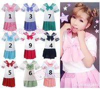 9 Colors Cosplay Costume Sailor Collar School Uniform Set Super Stretch SP140364