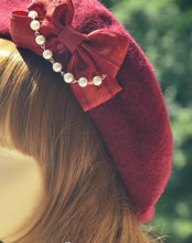 Load image into Gallery viewer, 9 Colors Lolita Bowknot Pearl Beret SP178872