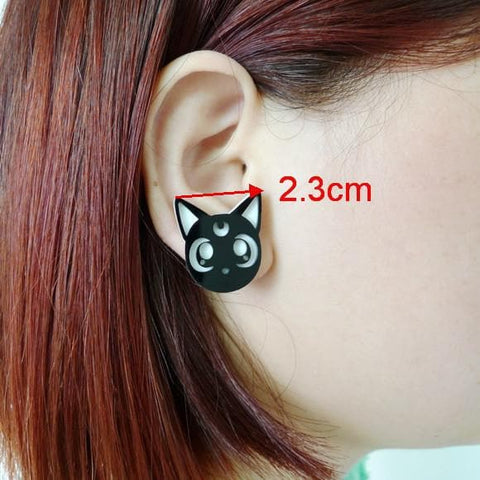Adorable Sailor Moon Luna Earring SP152244 - SpreePicky  - 2