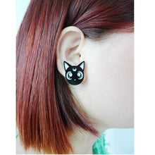 Load image into Gallery viewer, Adorable Sailor Moon Luna Earring SP152244 - SpreePicky  - 1