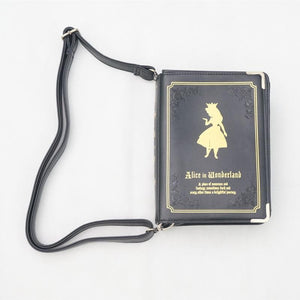 Alice In Wonderland Book Shape Shoulder Cross-body Bag SP140368 - SpreePicky  - 3