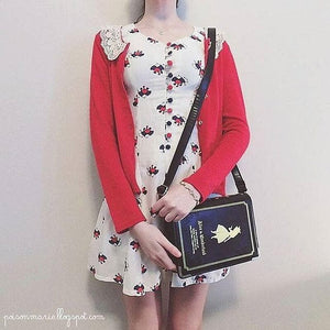 Alice In Wonderland Book Shape Shoulder Cross-body Bag SP140368