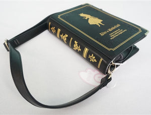 Alice In Wonderland Book Shape Shoulder Cross-body Bag SP140368 - SpreePicky  - 4