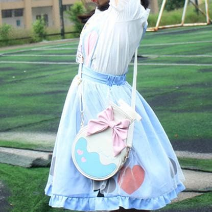 [Alice in Wonderland] Blue Adorable Rabbit Ears Suspender skirt SP166762
