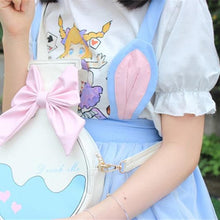 Load image into Gallery viewer, [Alice in Wonderland] White Printed Puffed Sleeves Top SP166836 - Harajuku Kawaii Fashion Anime Clothes Fashion Store - SpreePicky