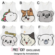Load image into Gallery viewer, [Aminalstickers Design] Cute Animal Crop Top SP179301