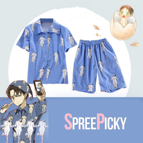 Attack on Titan Levi Rivaille Pajamas SP1710101